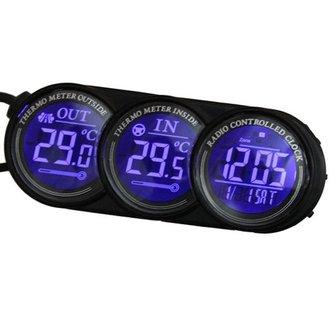 Auto Thermometer, Kalender en Klok