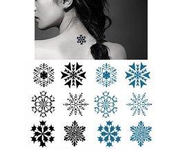Waterdichte Sneeuwvlok Plak Tattoos