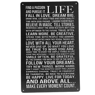 Tekstbord Life