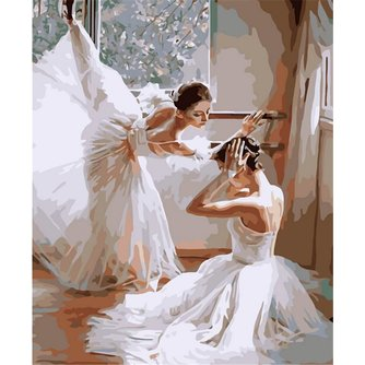 Nummer Schilderen Ballerina