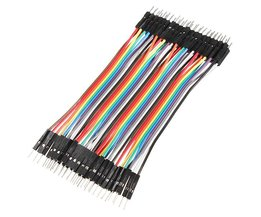 40 30cm Breadboard Wires