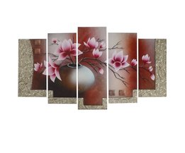 Canvasdoeken met Bloemen Design in 5 Stuks