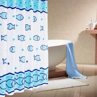 Gordijn voor Douche met Vissen Design