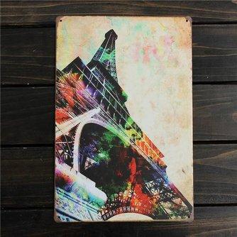 Decoratie Bord Eiffeltoren