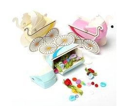 Roze Babywagen Cadeaudoosjes voor Babyshowers 10 Stuks