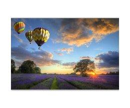 DIY Schilderij Met Lavendelveld En Luchtballonnen