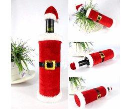 Kerstman Wijnfles Cover van Stof