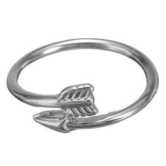 Verstelbare Pijl Ring in Goud of Zilver