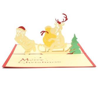 Pop Up Kaart Kerstmis