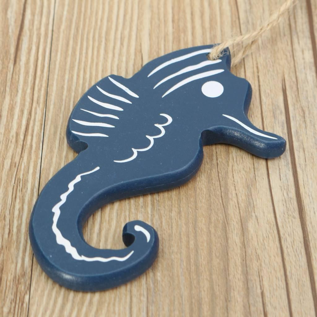 Houten decoratie hangers zeeleven kopen i myxlshop for Houten schijven decoratie