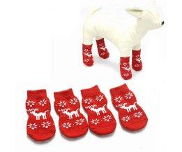 Antislip Kerstsokken voor je Hond S/M