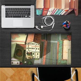 3D Bureausticker met Anime Street Print