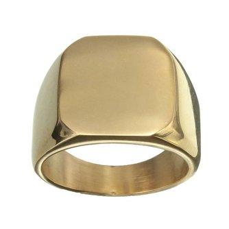 Stoere Goudkleurige Ring van Titanium/Staal voor Mannen
