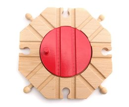 Houten Draaischijf Kruispunt voor Speelgoedtrein