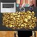 PAG 3D Bureau Sticker Met Goudklompjes