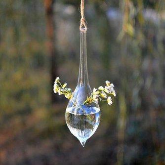 Hangende Vaas Glas Waterdruppelvorm