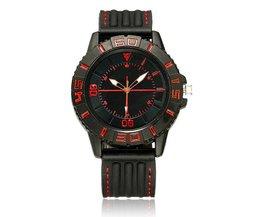 Zwart met Rood Horloge
