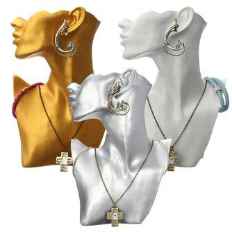 Sieradenhouder in goud, zilver of wit