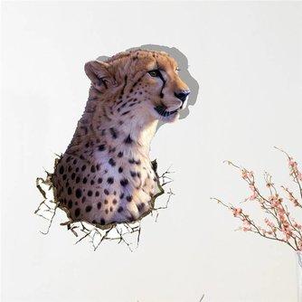 3D Luipaard Muursticker van PVC