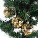 Glanzende Gestipte Kerstballen 4 stuks