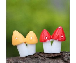 Decoratieve Mini Paddestoelen 2 Stuks