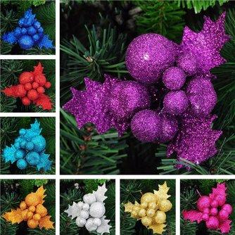 Glitter Versiering Voor Een Kerstboom In Meerdere Kleuren