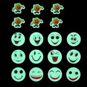 Glow-in-the-Dark Smiley Muurstickers