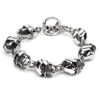 Stoere Schedel Armband van Roestvrij Staal 316L