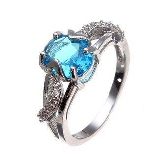 Platina Ring Met Steen Voor Vrouwen