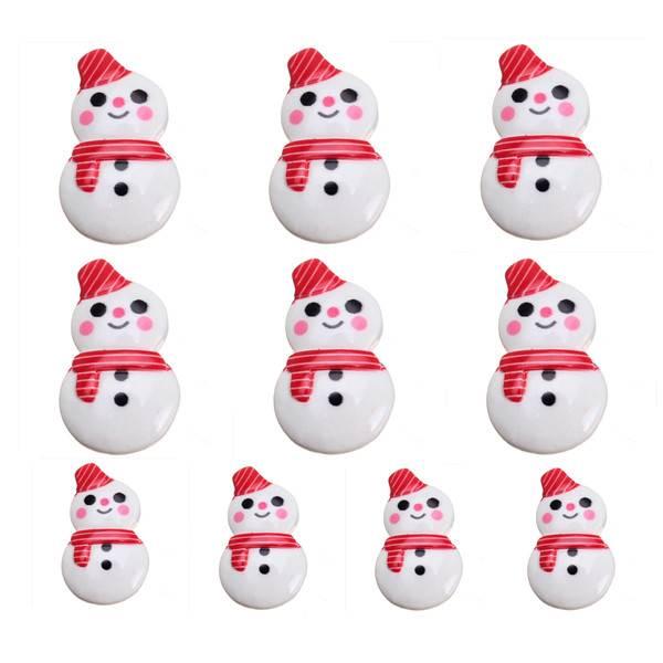Decoratieve Sneeuwmannetjes voor Kerst 10 Stuks