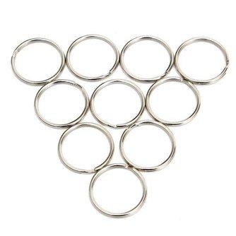 Metalen Sleutelringen 25MM 10 Stuks