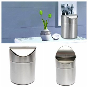 Kleine Prullenbak voor Badkamer of Toilet 1.5L