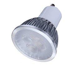 LED GU10 6W  5 Spots met Warm Wit Licht