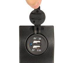 Auto USB Lader Dubbel voor Mobiele Telefoons