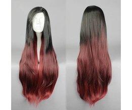Rood-Zwarte Pruik