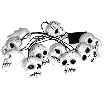 Tien Halloween Schedel Lampjes 20M