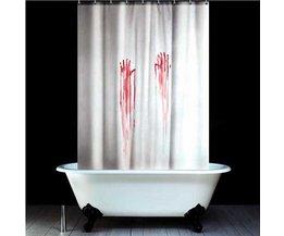 Horror-Douchegordijn met Bloed