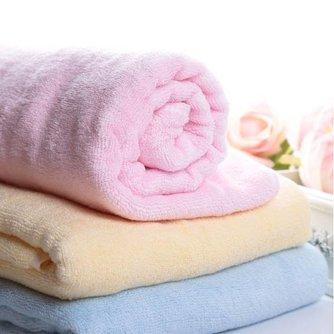 Babybadhanddoek in Roze of Blauw