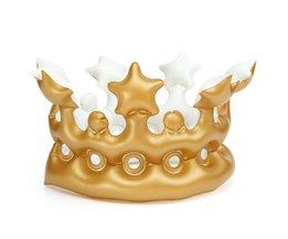 Opblaasbare Gouden Kroon voor Kinderen