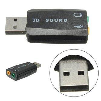 Externe USB Geluidskaart voor Virtueel 3D 5.1 Geluid
