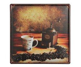 Retro Wandbord met Koffiemolen