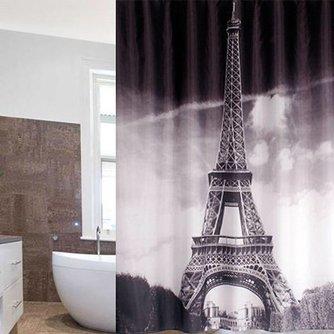 Douchegordijn Eiffeltoren 180x180cm met 12 Haken
