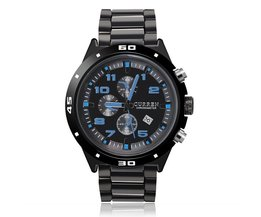CURREN 8021 Zwart Herenhorloge