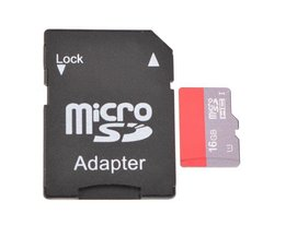 Micro SD Kaart Met Adapter 16G