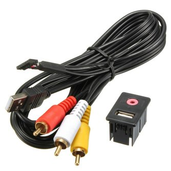 RCA Kabel Met USB