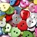Glanzende Hartvormige Knopen 100 Stuks