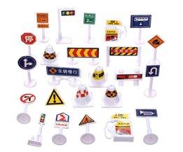 Speelgoed Verkeersborden Set 24 Stuks