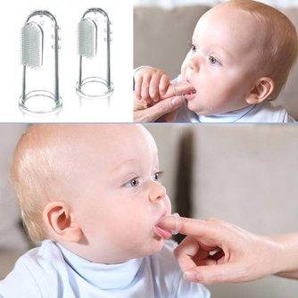 Zachte Vinger Tandenborstel Voor Baby's 2 Stuks