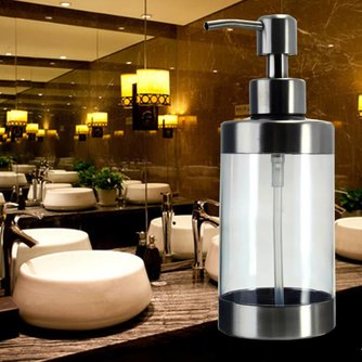 Luxe transparante roestwerende zeepdispenser
