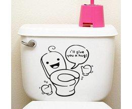 Sticker Voor De WC